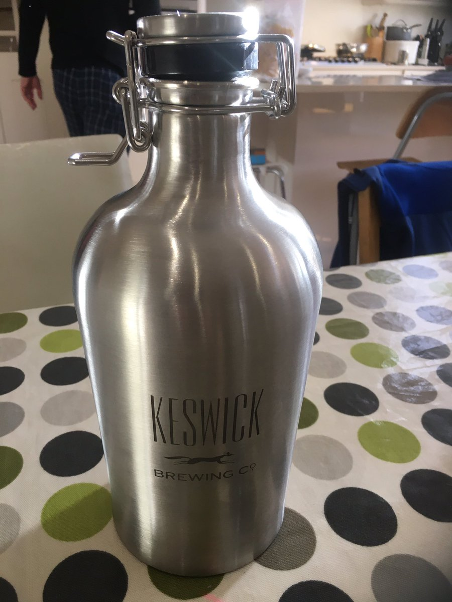 I'm not claiming my brother-in-law is blessed but he got a 2 litre beer flask for Valentine's Day :-)  #inawe #mywifeneedstottryharder  @KeswickBrewery