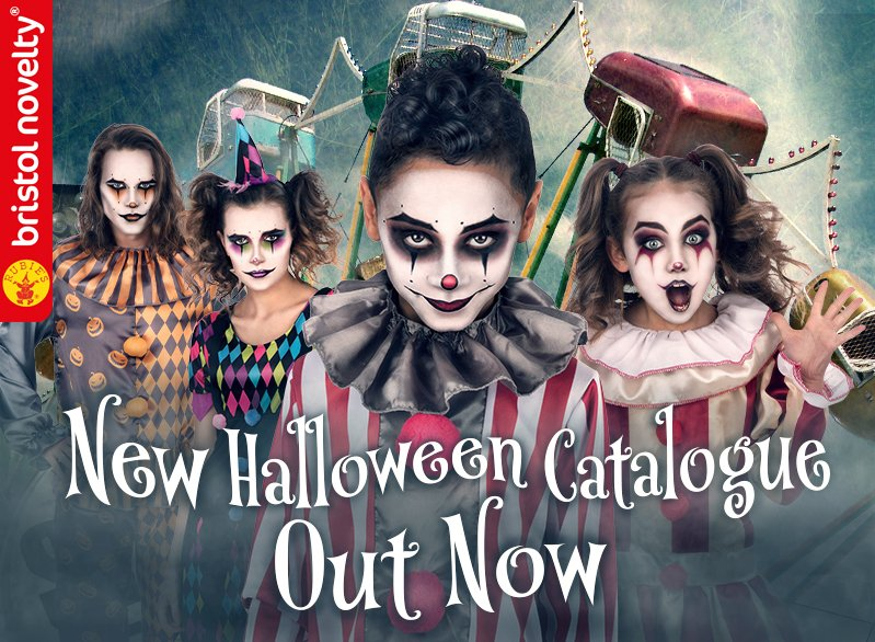 Halloween 2020 range out now!  We proudly present our largest range of exclusive products to make every clown, demon and zombie stand out from the crowd this Halloween.  Stock our creepy creations today https://trade.bristolnovelty.com  #halloween #fancydress #costumes #GetTheLookpic.twitter.com/j8Qme5wIrL