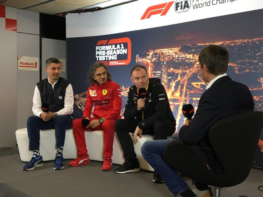 FIA Press Conference for our Sporting Director Alan Permane this lunchtime!   #RSspirit #F1Testing