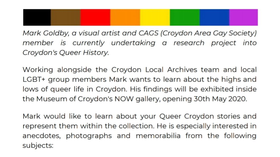 @SteveReedMP Hi Steve, was pointed in your direction for your longstanding LGBT+ advocacy. I'm constructing a queer archive of Croydon, let me know if you're interested in being involved pic.twitter.com/qeFT44uwA3