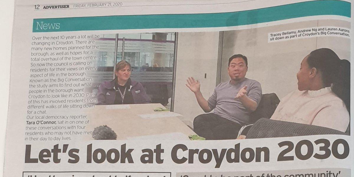 We loved having #Croydon reporter @TaraOConnor_  join the #BigConversationCroydon   Have you had your say? Take the survey today http://bigconversation.croydon.gov.uk/surveypic.twitter.com/DPZDSHGPwj