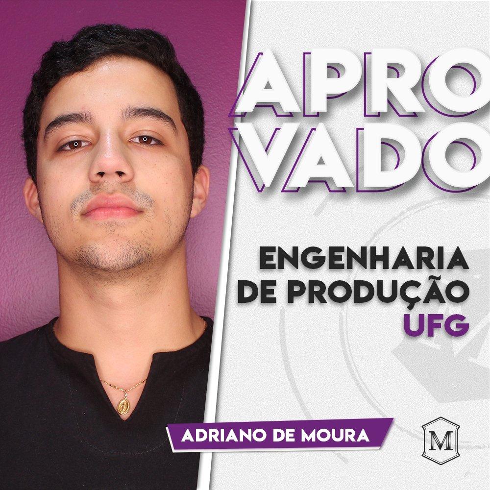 E vamos de aprovação, amados!  Parabéns, Adriano, por essa conquista. Muitas ainda virão. #aprovacao #ufg #engenhariadeproducao pic.twitter.com/mBlHTkF8cC