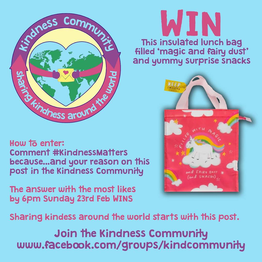 @kindnessUK Im on a mission to make the world a kinder place so I set up facebook.com/groups/kindcom… We have a competition right now if you join and tell us why #KindnessMatters