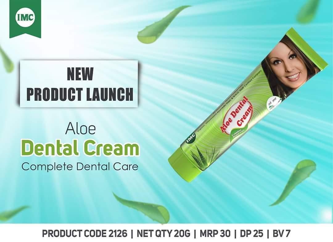 एलो डेंटल क्रीम  एलो डेंटल क्रीम के साथ लंबे समय तक चलने वाली ताजगी सुनिश्चित करें।  यह प्राकृतिक सफेदी बनाए रखने के लिए धीरे से दांतों से पीलापन हटाता है।  अधिक जानकारी के लिए, यहां जाएं:  https://imcbusiness.com/products/dental-cream-20g/  …  #Witening  #Toothpaste  #imcbusiness  Shubham 9696902305