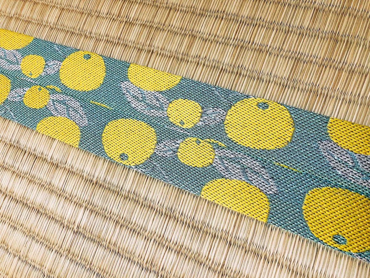 実家の新しい畳の畳縁が文旦柄でめっちゃ可愛かった