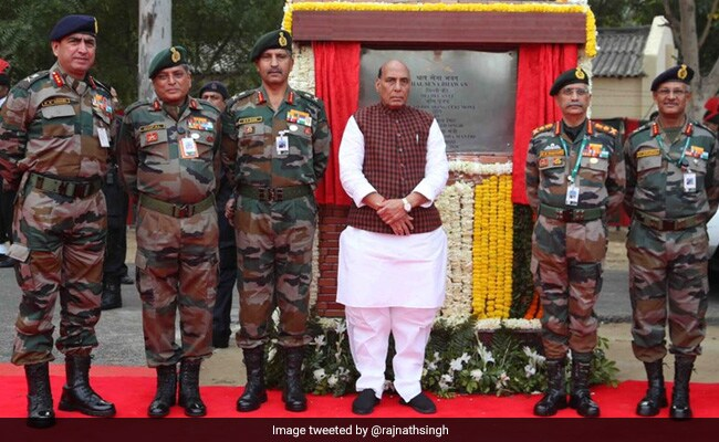 Rajnath Singh lays foundation stone of new Army headquarters in Delhi. https://www.ndtv.com/india-news/rajnath-singh-lays-foundation-stone-of-new-army-headquarters-in-delhi-2183819 …