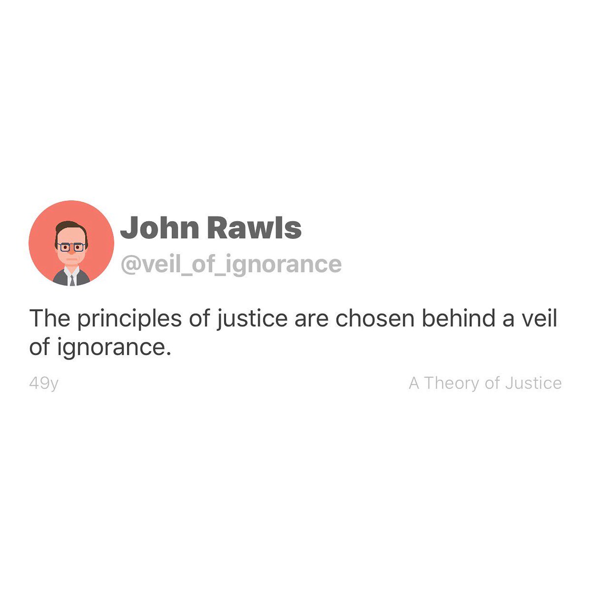 Happy birthday to liberal American moral and political philosopher, John Rawls, born this day 1921 in Baltimore, Maryland, USA.  #philosophy #philosophyquotes #johnrawlspic.twitter.com/96ALjEw6Oh