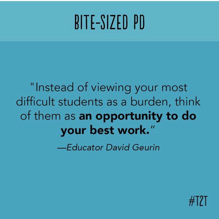We love this mindset shift from Educator David Guerin. #bitesizedPD #T2Tpic.twitter.com/dfAxSY26Vu