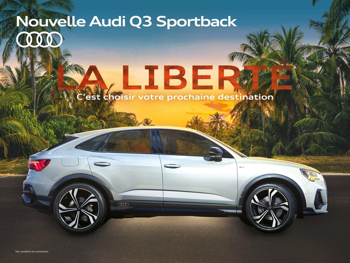 Soyez libre de vos mouvements !  Grâce à ses multiples aides à la conduite, l'Audi Q3 #Sportback vous permet de négocier en toute sécurité les contraintes propres au trafic urbain.  En savoir plus : https://t.co/eP0Qfu8A8i https://t.co/UuiYFEwHSN