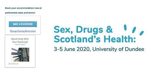 Image for Booked somewhere to stay during the Sex, Drugs and Scotland's Health Conference yet? We have secured rooms with some fab hotels offering great rates for delegates. View and book your accommod