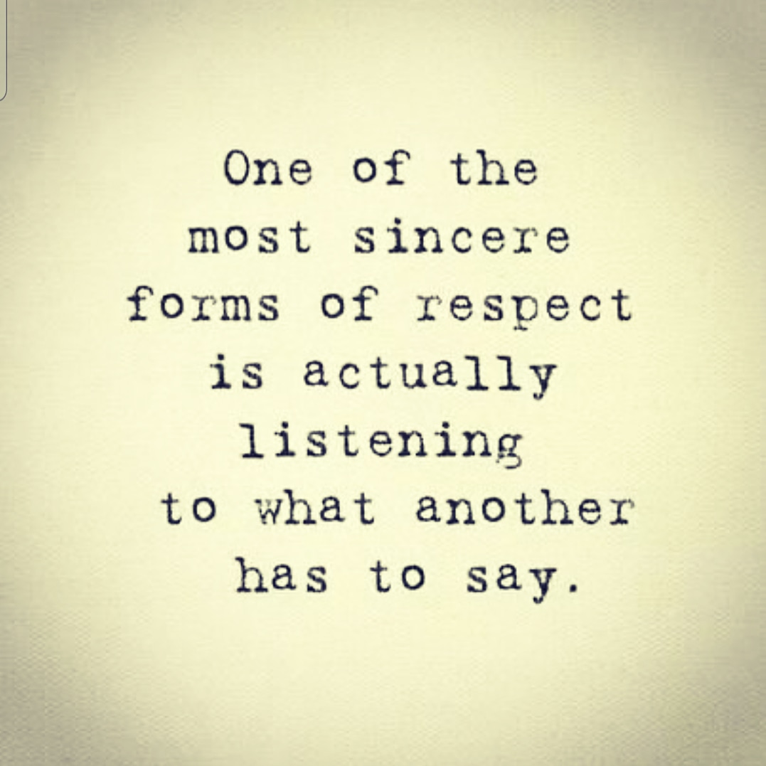 In this day and age when it's become accepted, and even respected to shout down anyone who has a differing opinion than you, be a REBEL and listen to someone instead. #Listen #ListenHere #listening #listennow #listenandlearnpic.twitter.com/N5m6cIMaxs