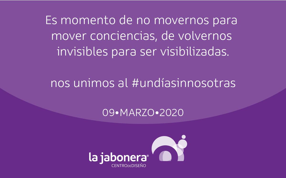 Nos unimos a #UnDiaSinNosotras 9 de marzo 2020 https://t.co/x0fGT8GsmG