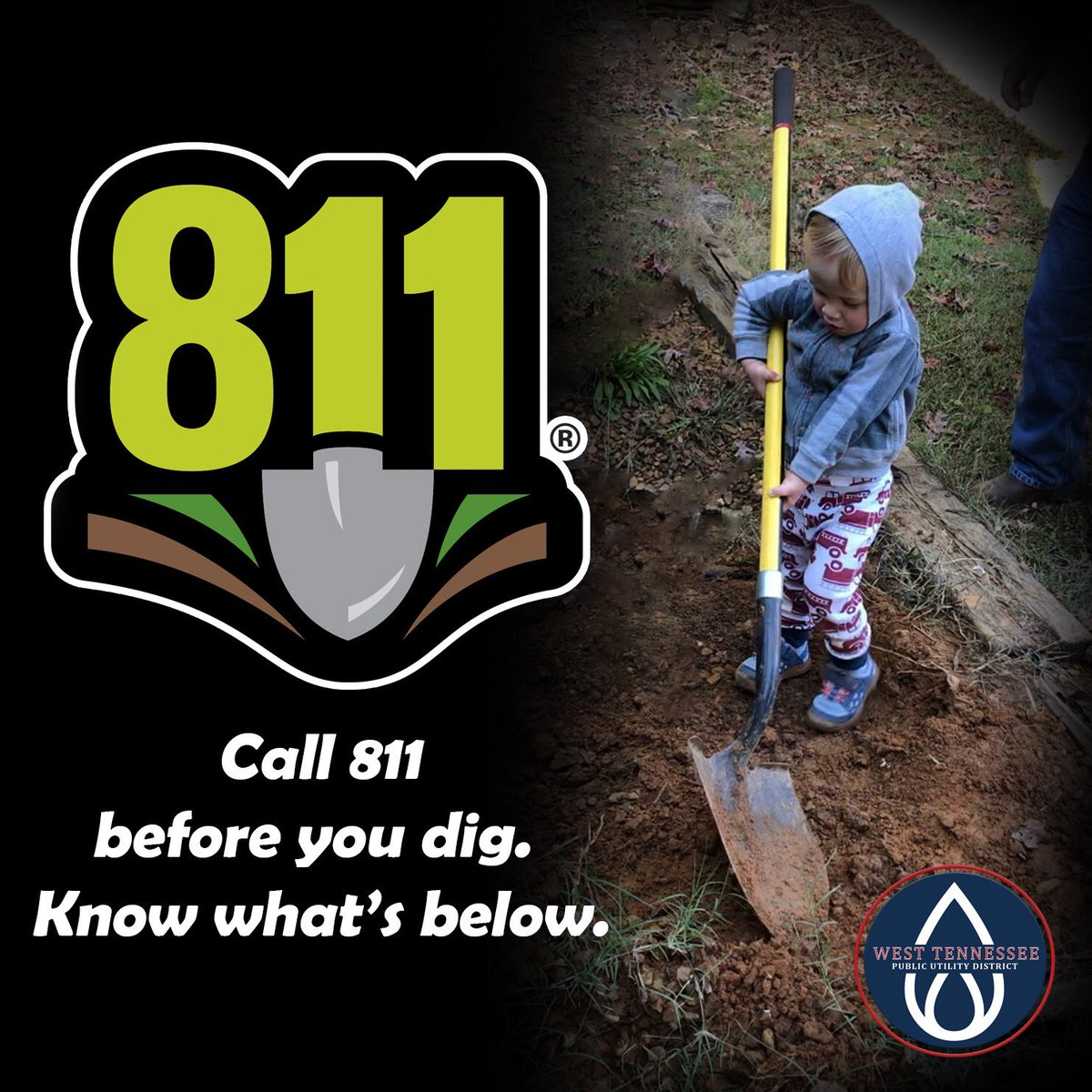 West Tennessee Public Utility District On Twitter Call 811 Before You Dig Missing children are being sacrificed by the shadow government! twitter