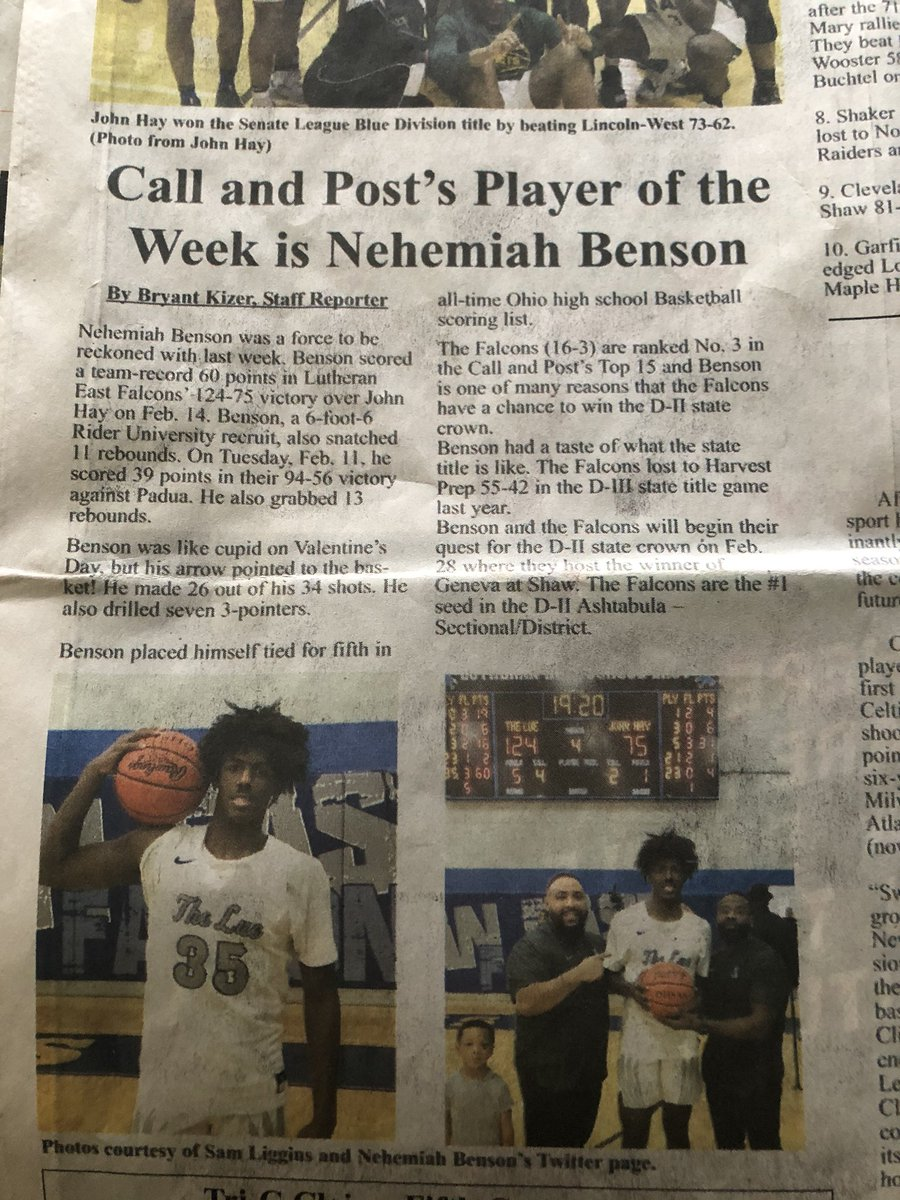 #babyboy made the front sports page of the Call and Post. This paper is 100yrs old and I didn't even know it was still around. My parents use to love this paper. Mom and Pops Neah made the C&Ppic.twitter.com/5P1tWCoyYO