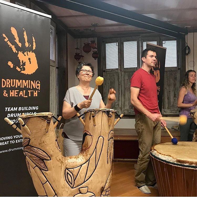 Our Tree Drum gets a workout at every DrumYogaChant Community Circle event. Our next DrumYogaChant is tonight! #weekendvibes #yoga #community #drumcircle #friyay #joinus #vancity #smallbusiness #chanting #meditation #spiritualhealing #mantra #healthandwellness  #lifeisgoodpic.twitter.com/GagJPOzfKL