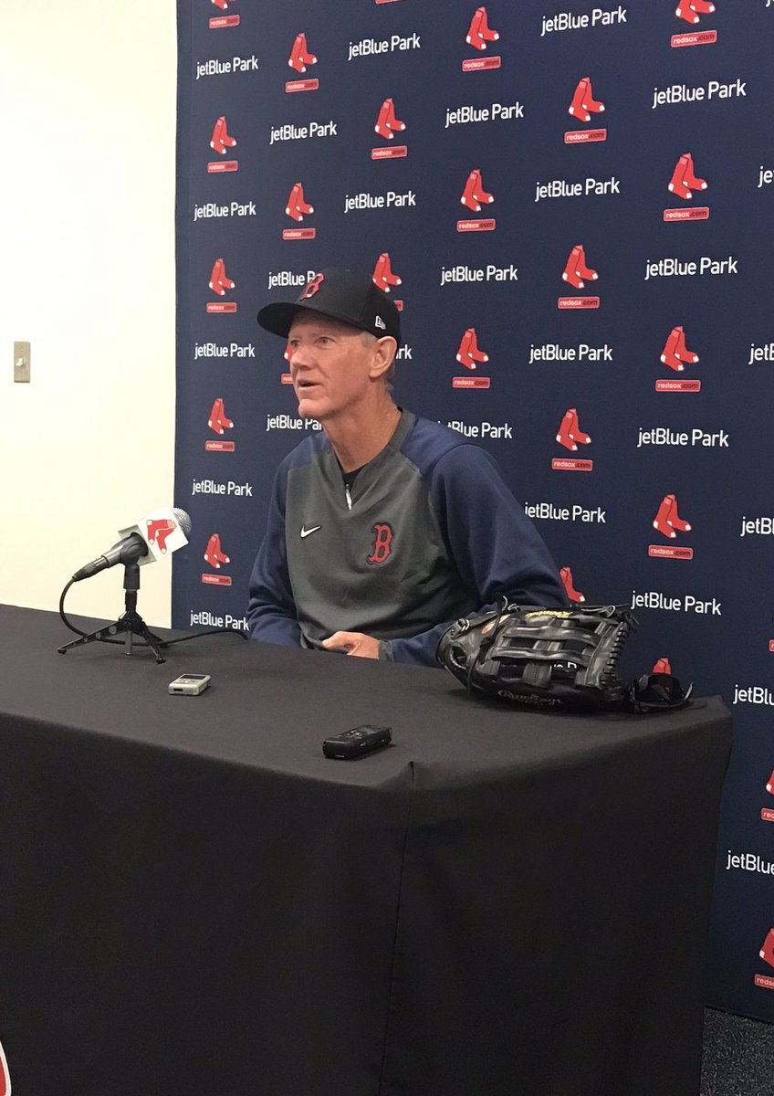 Roenicke:  -Sale's progression is going well, they will have dates for starters soon  - too early to tell with Verdugo but they are pleased with progression -Devers is back, he's behind - lot of competition for bullpen  - have about 5 pitchers they want to stretch out. #RedSoxpic.twitter.com/OwOR3paWNE
