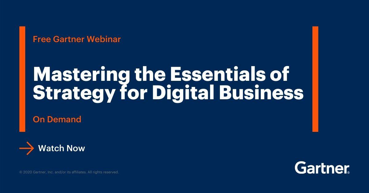 Do you want to create a successful strategy for digital business? Find out how in our complementary, on-demand #webinar. Register here: https://gtnr.it/2V8N0fA  #GartnerSYM #CIO pic.twitter.com/zGiNyHP9jA @Gartner_inc
