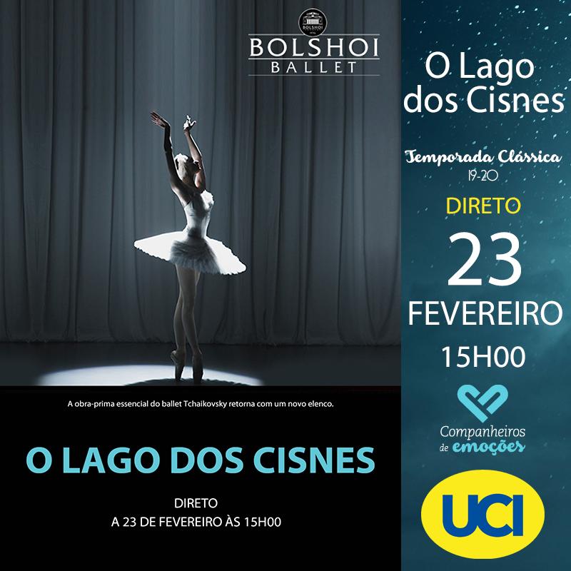Lago dos Cisnes - Bolshoi - Temporada Clássica 19/20 - Transmissão em directo via satélite na quarta- feira, 23 de Fevereiro às 15H00, nos cinemas UCI do El Corte Inglés de Lisboa e Arrábida 20 no Porto.  +info- http://www.ucicinemas.pt/Eventos/lago-dos-cisnes---bolshoi---temporada-classica-1920… #UCIcinemas #Ballet #BOL #LAGODOSCISNESpic.twitter.com/oTlsZPzv9h