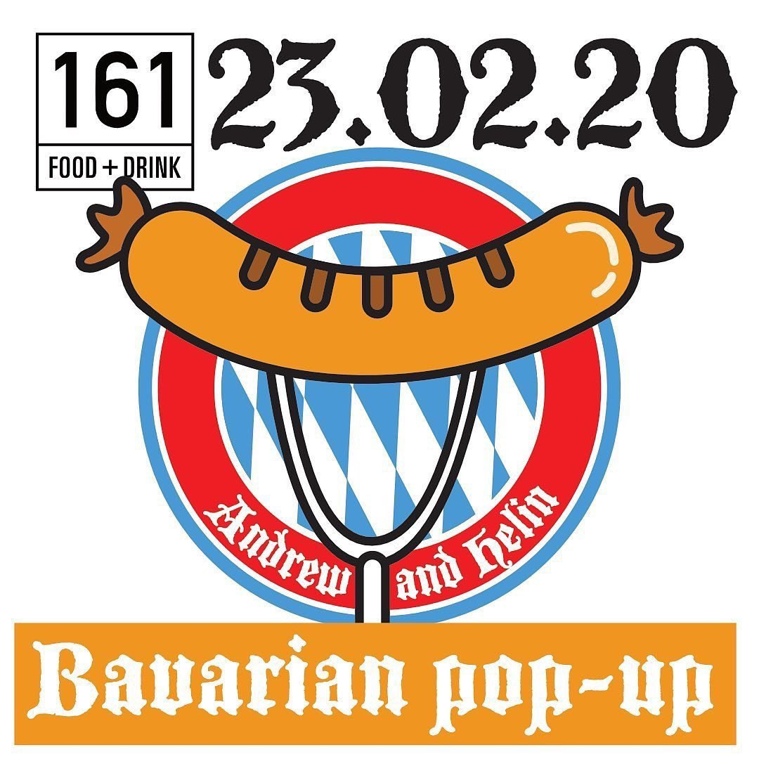 THIS Sunday! Don't miss out on our Bavarian Pop Up: getting started at 5pm until we run out. Book via hello@161foodanddrink.com #SE23 #SE22 #SE26 #Sydenham #Kirkdalepic.twitter.com/pe6az2b9JL