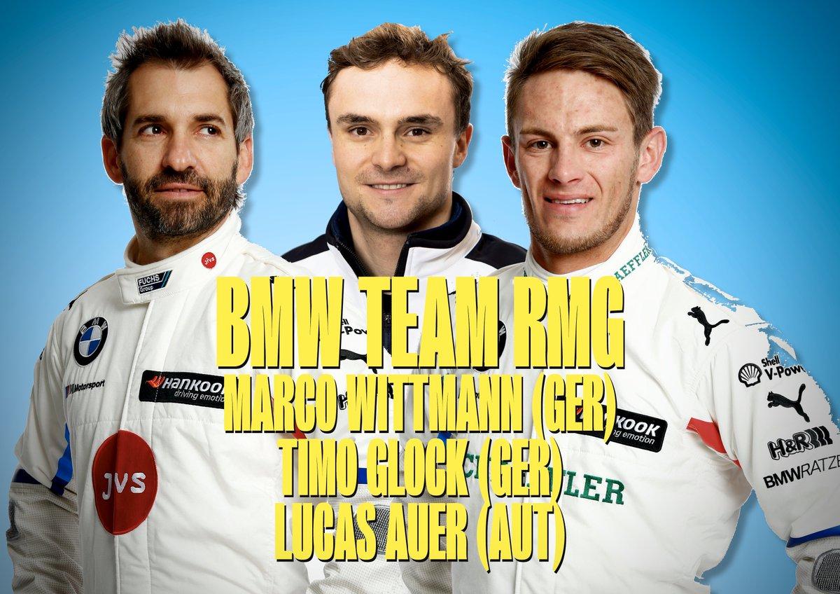 BMW Team RMG's 2020 line-up:  @Wittmannracing 🇩🇪 @realTimoGlock 🇩🇪 @LucasAuer1 🇦🇹  #DTM2020