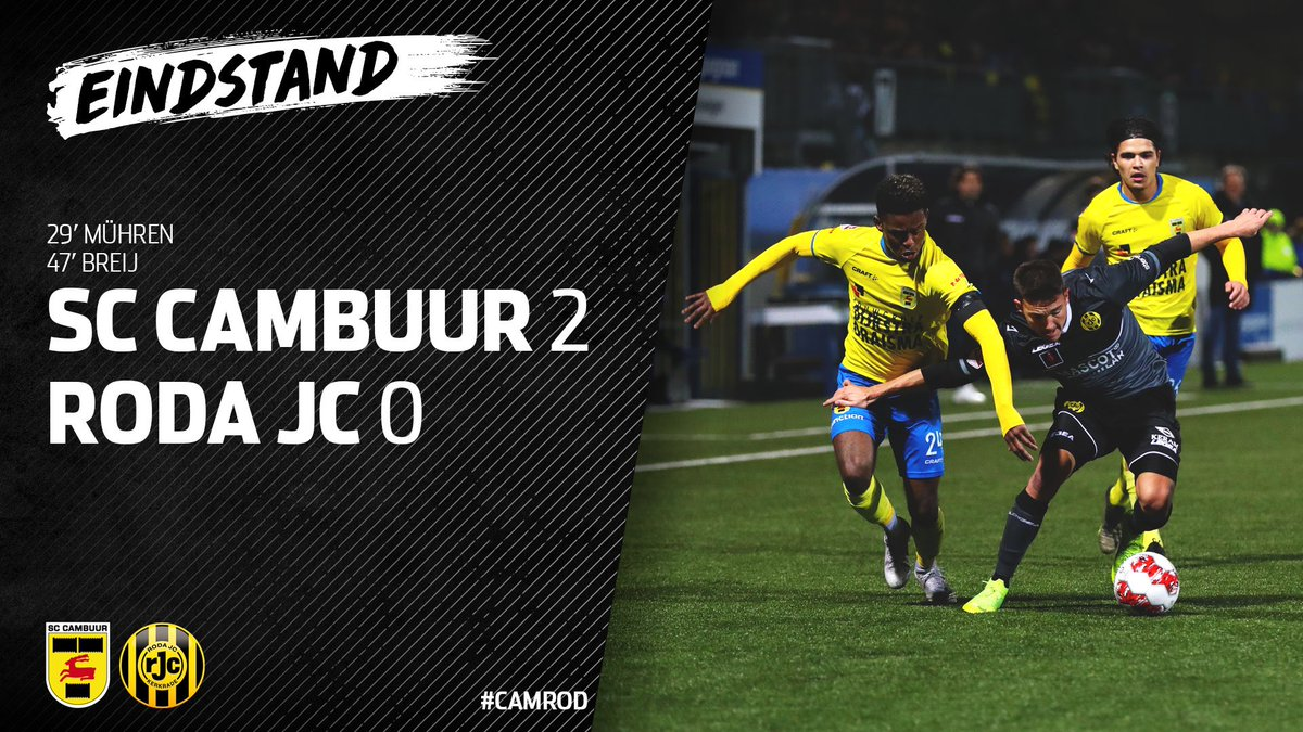 Full Time Cambuur Leeuwarden 2 0 Roda Jc Netherlands Eerste Divisie February 21 2020 Football365