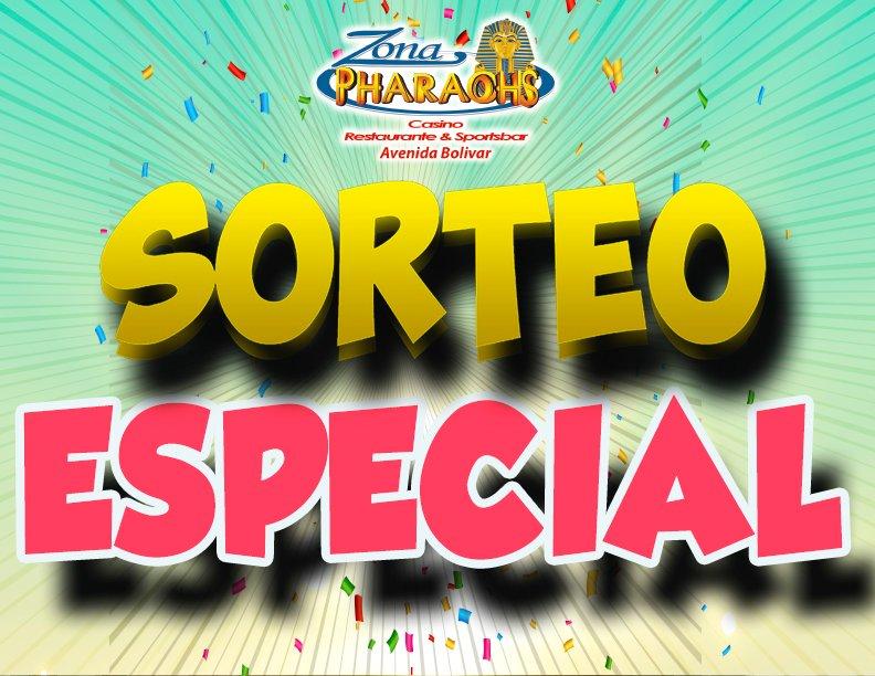 #FelizJueves Sorteo especial de $200 en premios, este 22 de Febrero, desde 9pm, en Zona Pharaohs Avenida Bolívar
