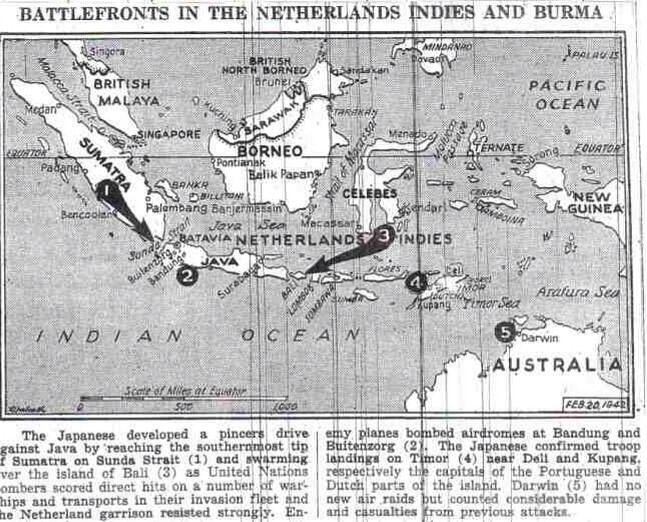 With Singapore conquered & the Philippines besieged, Japanese troops are pouring into the Netherlands East Indies, smashing Dutch resistance: