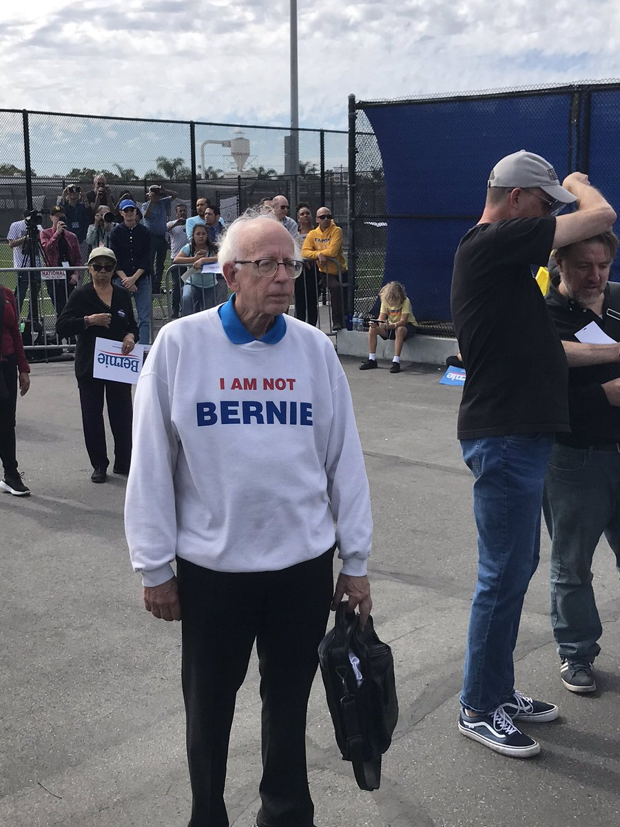 FYI...Spotted at the @BernieSanders rally in #OrangeCounty #notberniesanders