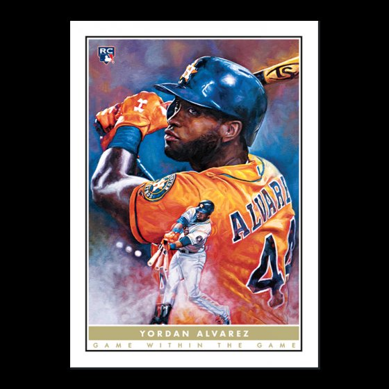 New Topps #GameWithinTheGame card and art prints are available  #2 Yordan Alvarez, Houston Astros  Will have extra cards and possibly prints available. Let me know if interested!  Art prints are numbered to 99 and 1. The Judge prints sold out quickly, so plan accordingly!