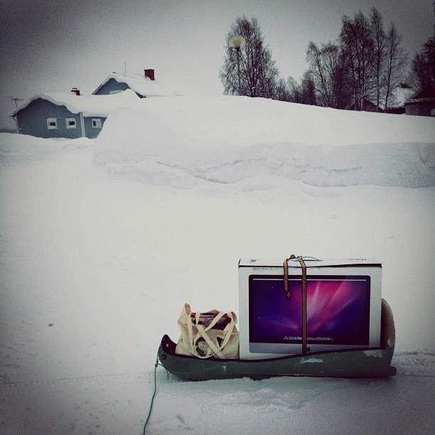 Muisto vuodelta 2012. #etätyö ei suinkaan ole mulle mikään uusi asia... #lappi #aboveordinary