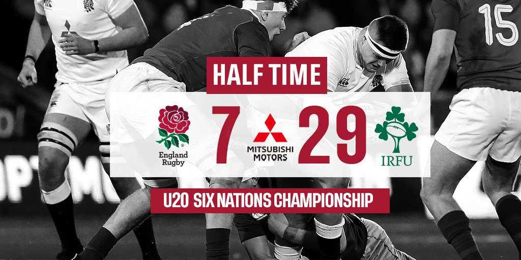 test Twitter Media - Ireland go into half time leading 29-7 at Franklin's Gardens in the U20 Six Nations Championship. https://t.co/1qCgAEZWOJ