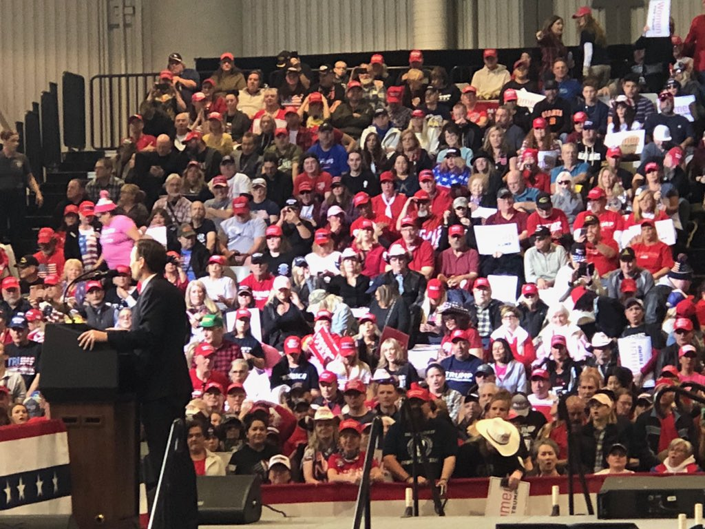 It was such a blast to help introduce @realDonaldTrump today for the Las Vegas rally! It is an unbelievable crowd and these thousands of people are fired up to win my state in 2020. #MAGA #KAG2020 #TrumpRallyNevada