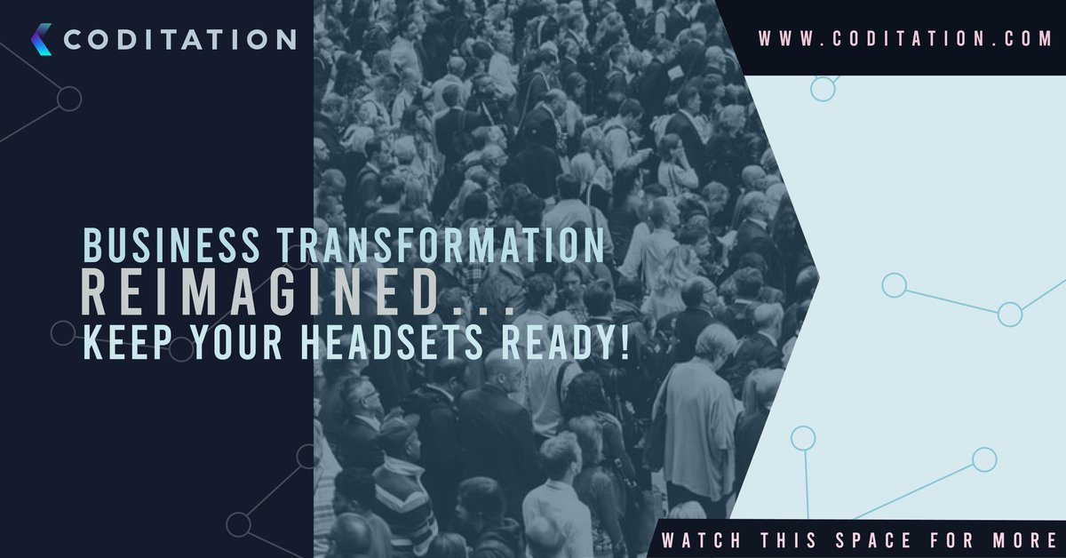 Keep your headsets ready! Follow us to know more! For more information visit: http://www.coditation.com  #digitaltransformation #techfirst #businesstransformation #machinelearning #aimlpic.twitter.com/8dwxlwhWlv