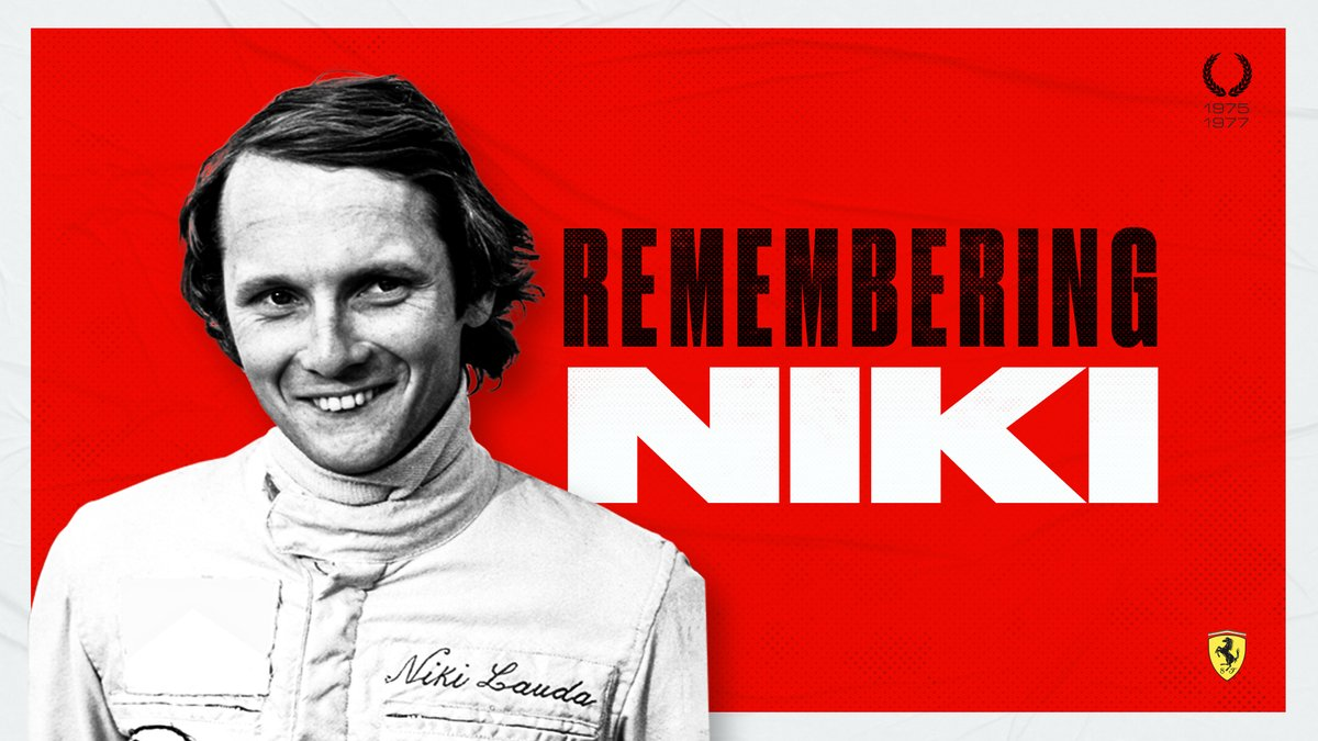 Remembering Niki - The legend would have turned 71 today ❤️  #essereFerrari 🔴 #CiaoNiki https://t.co/Rs0EKXhInK