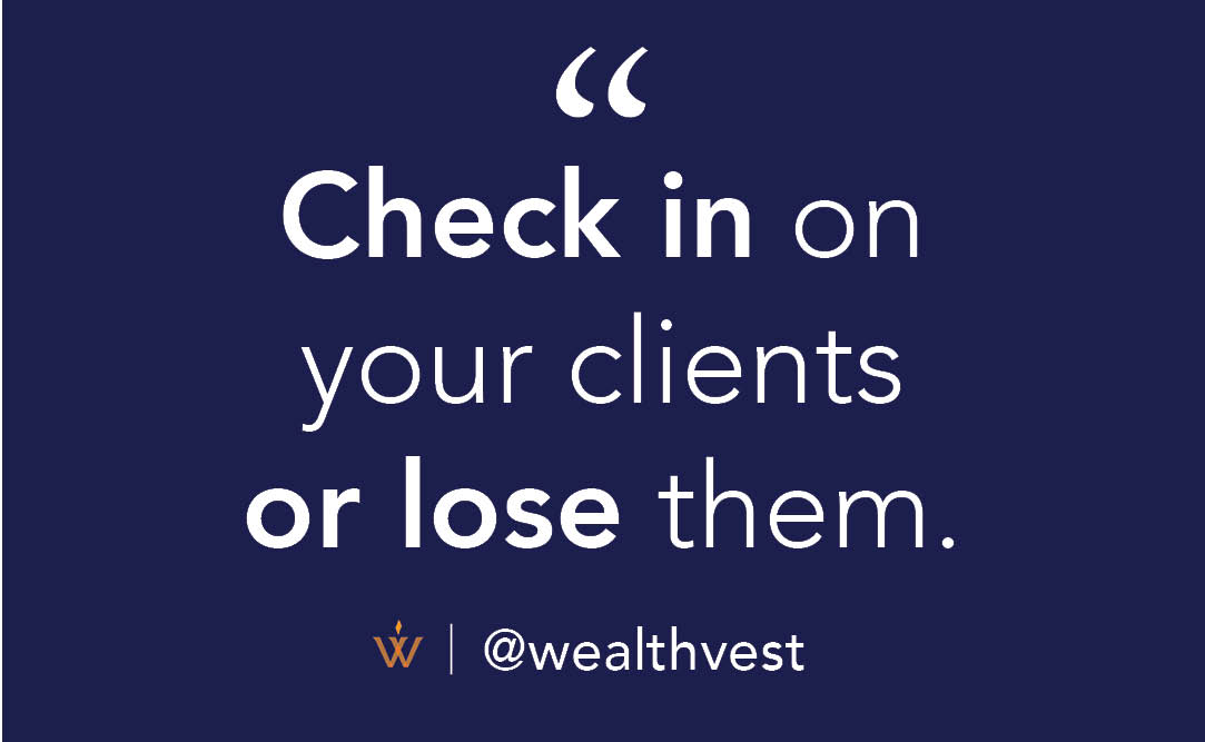 It's as easy as -Sending them a card for their birthday -Remembering their kids' graduations -Asking them for coffee to review their financial goals (because goals can and do change) #weathvest https://t.co/lQx0pPVo8E