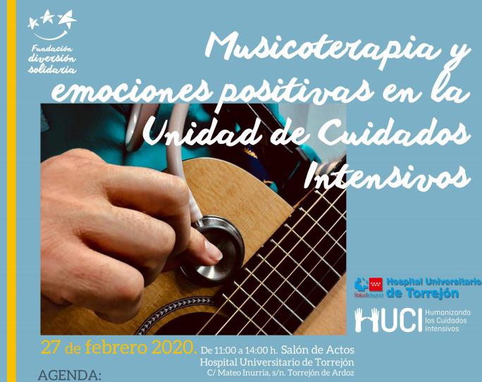 """Jueves 27 Febrero, de 11 a 14 h @HUdeTorrejon #Madrid    Jornada """"#Musicoterapia y emociones positivas en la UCI""""  El evento es de entrada gratuita, pero has de rellenar tu solicitud dada la limitación de aforo:  https://www.diversionsolidaria.org/index.php/inscripcion-encuentro-uci/…  Te esperamos!!! #benditalocura pic.twitter.com/7v3hXS6xHa"""