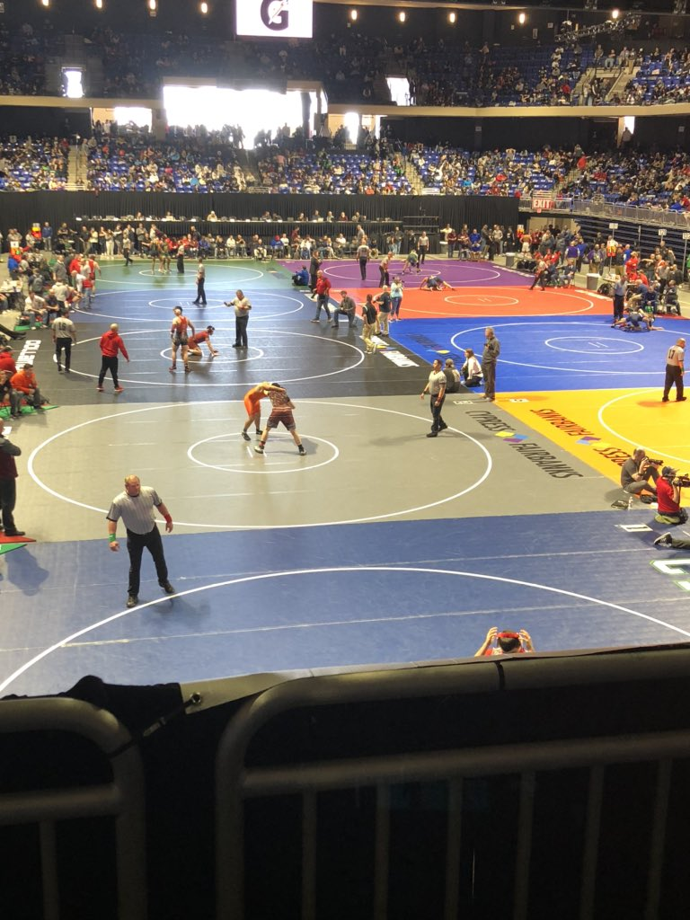 State Wrestling Championships supporting our Cougar Wrestling team. #CougarPride