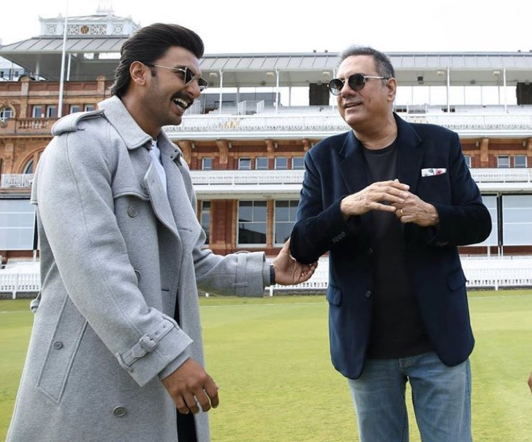 """""""I am also a part of #83TheFilm  I play Farokh Engineer, who used to be our wicketkeeper in 1960-70s. In the film Engineer does commentary. He was the only Indian commentator in the commentary box for BBC. Working in the film was a really nice experience.""""- Boman Irani (Outlook) <br>http://pic.twitter.com/J6PeOkaHAt"""