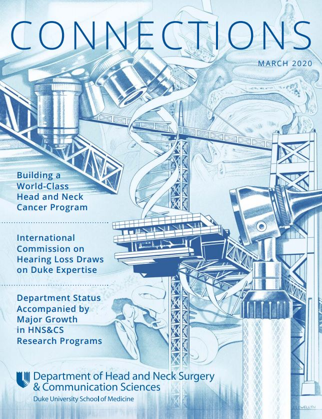 The 2020 issue of Connections is here! This issue celebrates Duke Head and Neck Surgery & Communication Sciences' department growth, improved #patientcare, expanded #headandneckcancer research, and more. Read the full issue here: http://ow.ly/Axci50ysCeWpic.twitter.com/f7X8CDj4nP
