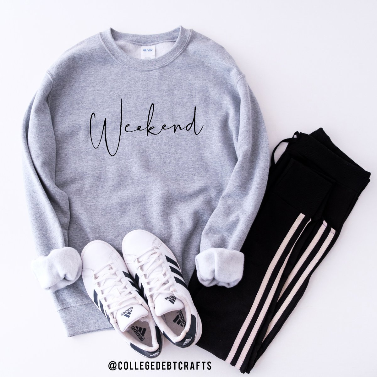 Hello weekend! -  New to the shop... get yours here! ➡️  - #weekends #weekend #collegedebtcrafts #indy #shoplocal #flatlay #etsysellersofinstagram #indybossbabe #lifestyle #etsy #etsyshop