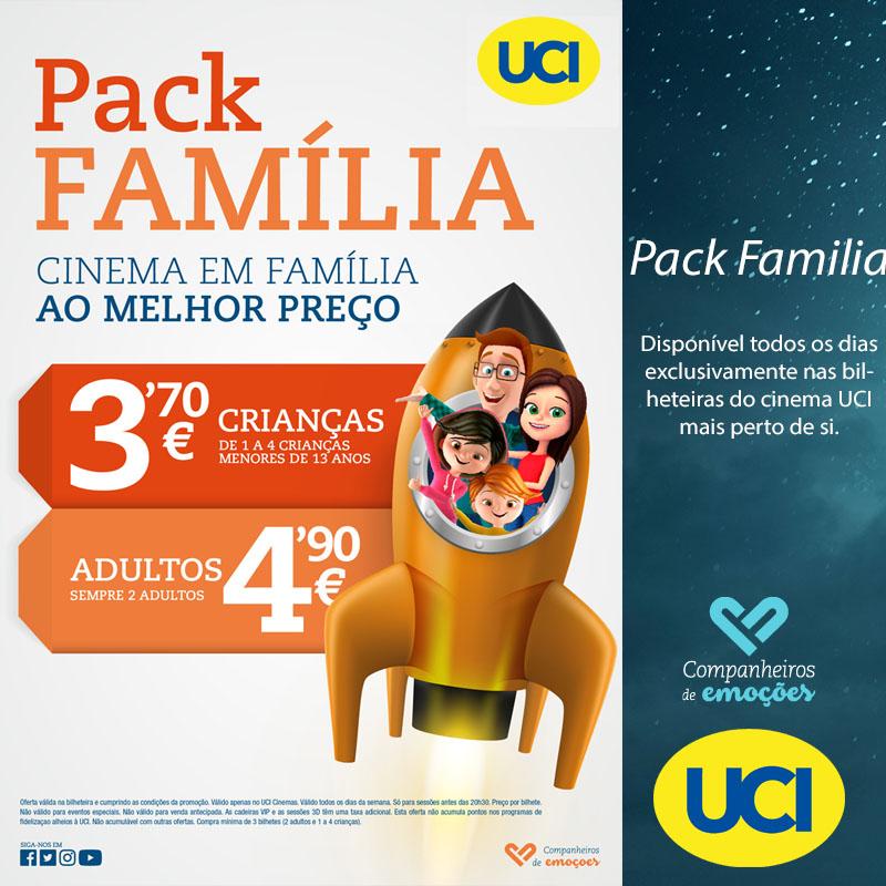 Pack família - Aproveite o cinema em família ao melhor preço.  #UCIcinemas #filmes #promoção #packfamiliapic.twitter.com/8aXETQHFAS