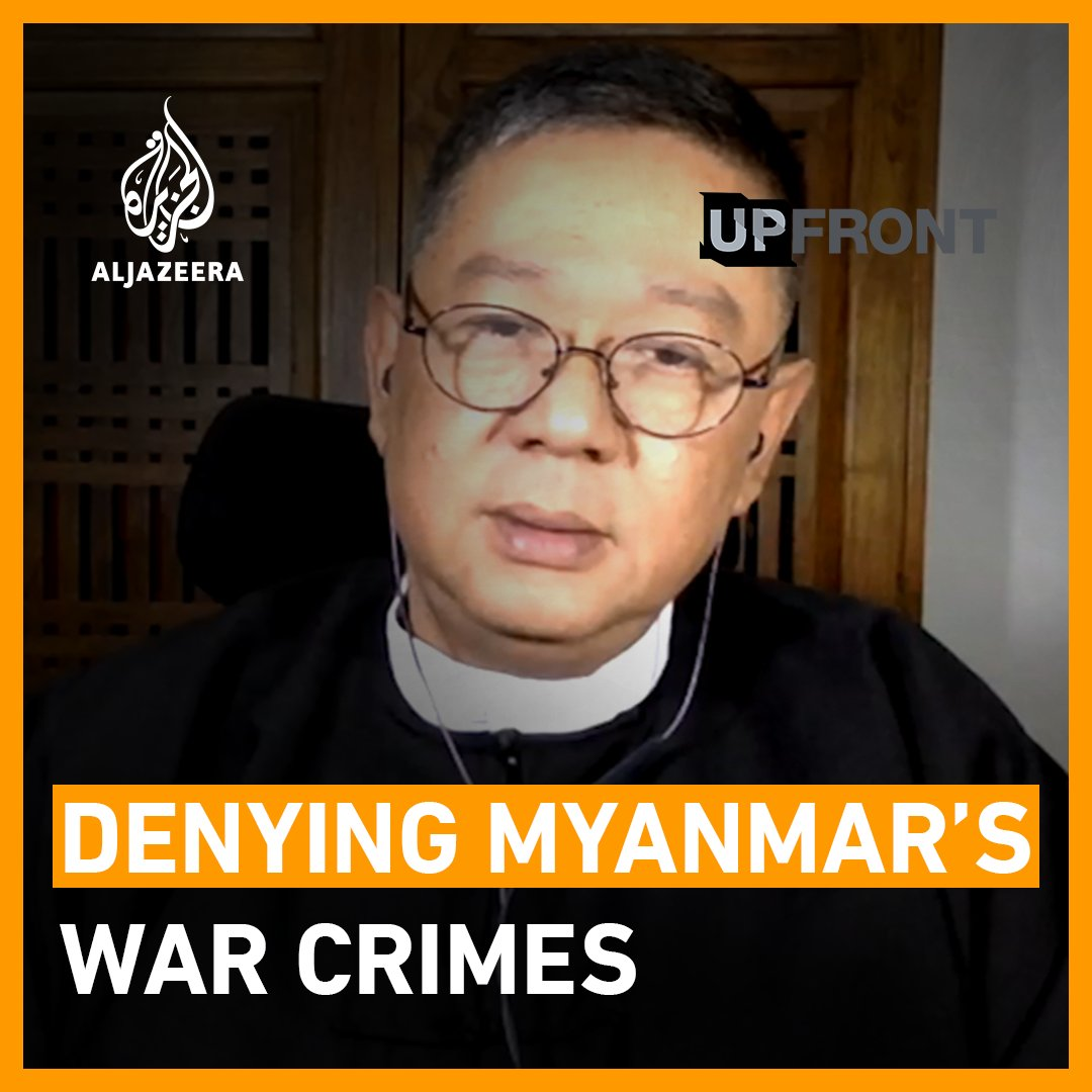"""What I don't get is that every time I mention women being sexually assaulted, you smile. Forgive me, why are you doing that?""  On @ajupfront, I challenged Aung San Suu Kyi's former spokesperson on his denial of the horrific crimes against the Rohingya:"