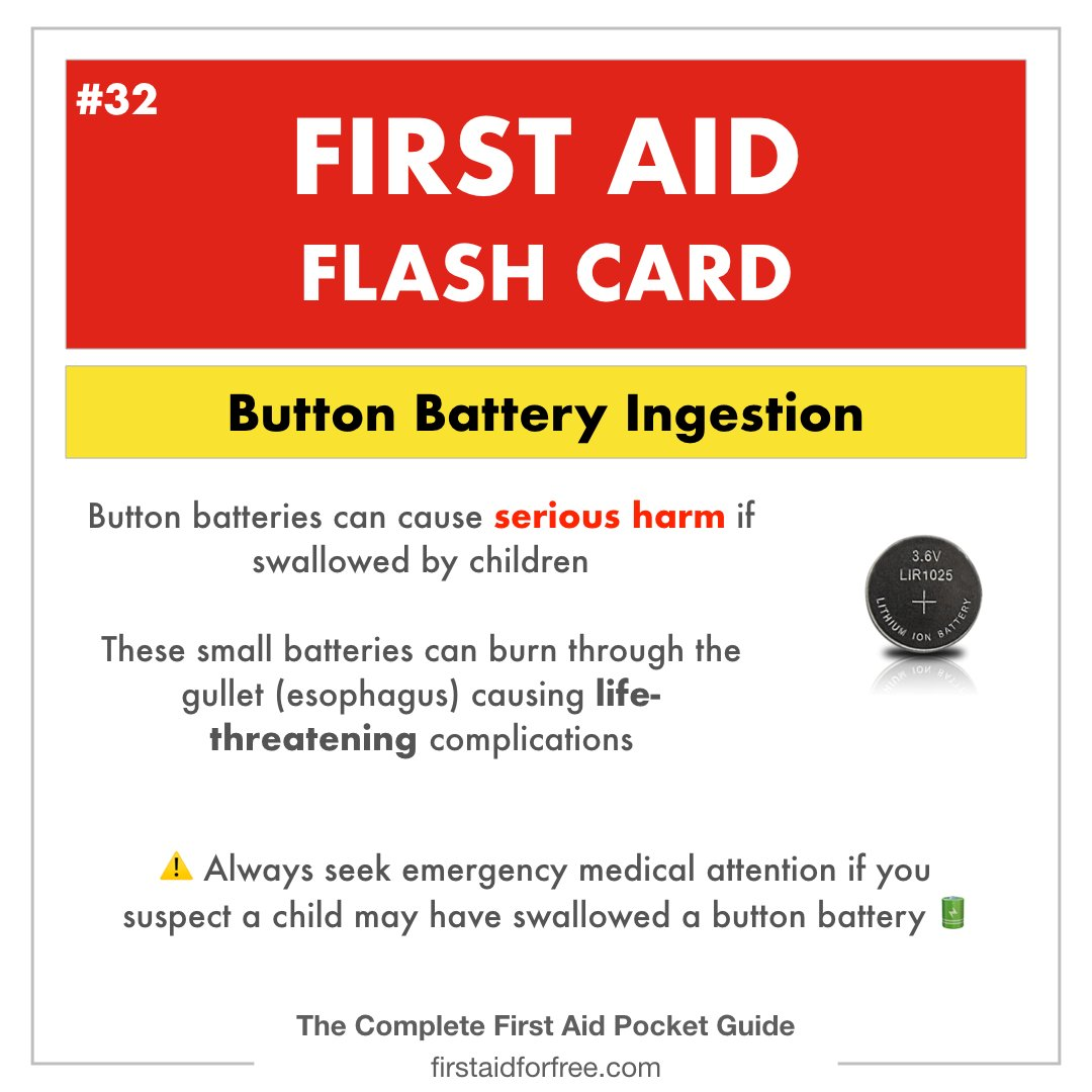 Ingestion of a button battery is an EMERGENCY!  #firstaiding #firstaid #firstaider #CPRcertified #firstaidtraining #firstaidclass #firstaidcertified #medicine #medic #paramedic #ambulance #EMS #EMT #nursingschool #nursing #emergencymedicine #bubba #babyhealth #parentingpic.twitter.com/53uiROwTl1