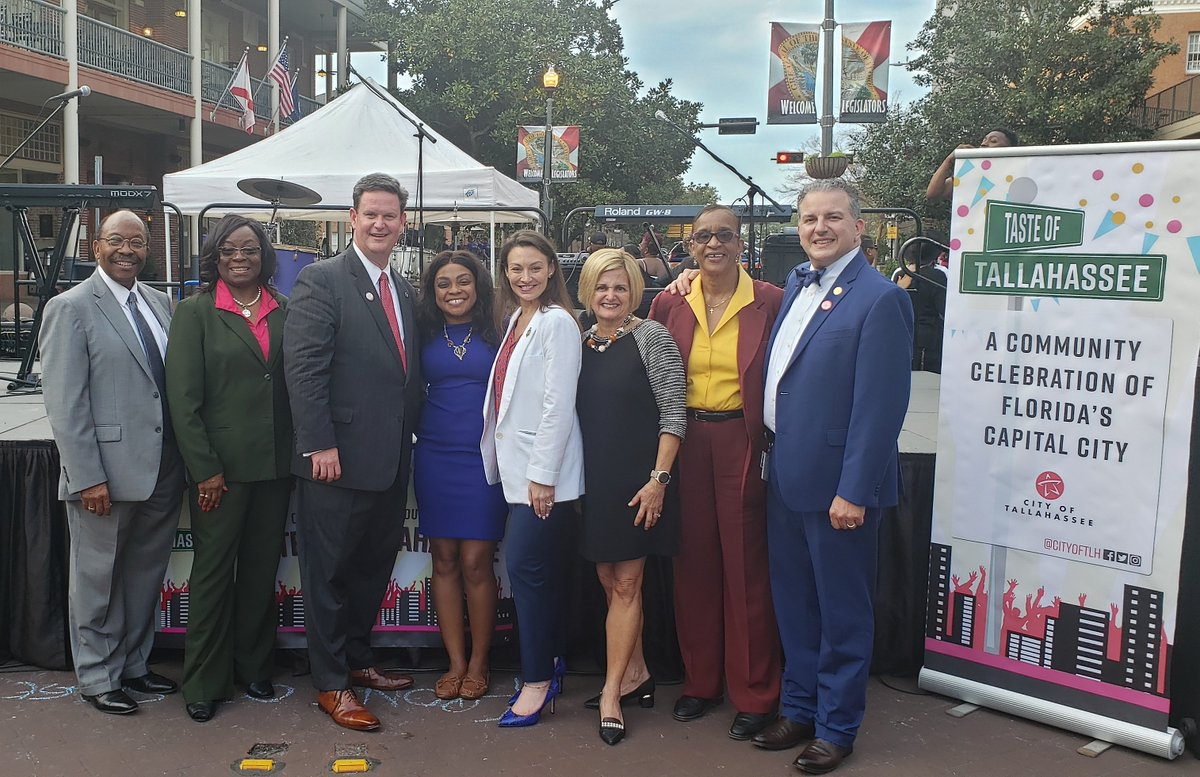 Supporting the annual #TasteofTallahassee celebration with City Commissioners Curtis Richardson and Dianne Williams-Cox, Mayor John Dailey, Commissioner of Agriculture Nikki Fried, Rep. Loranne Ausley, City Commissioner Elaine Bryant, and CFO Jimmy Patronis  It was delicious!