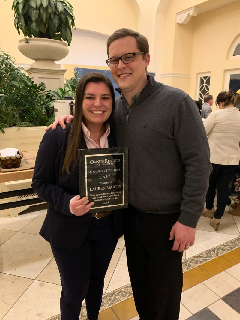 Congratulations to #UofSCHRSM alumna Lauren Martin (2018) on earning the Manager of the Year award for The @OmniHomestead Resort! #congratulations #hospitalitymanagement #hrsmfam #forevertothee #proudofyou #UofSC