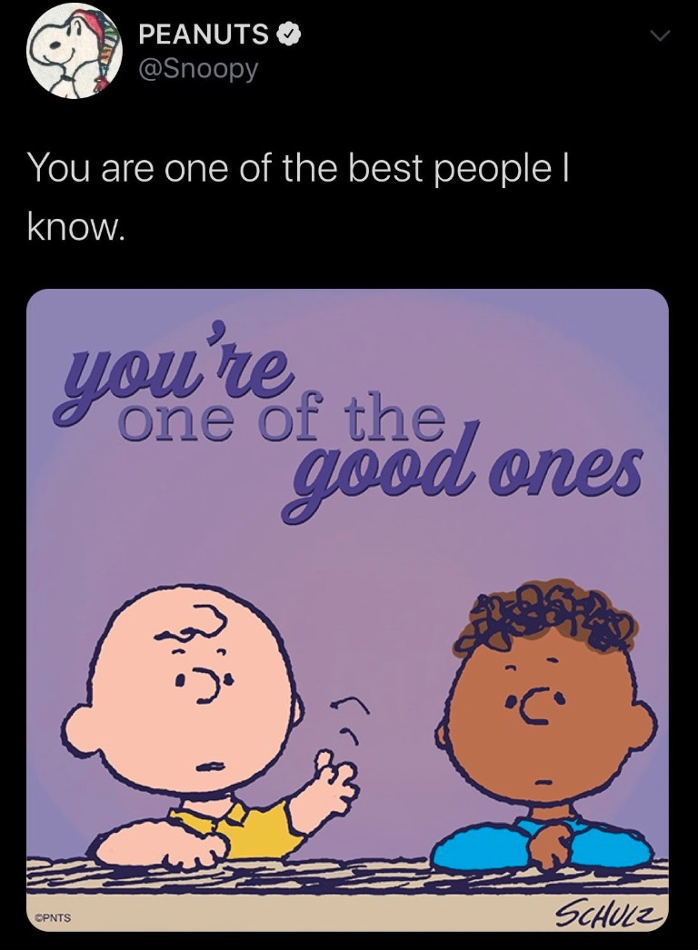 prayers up to the peanuts social media management team