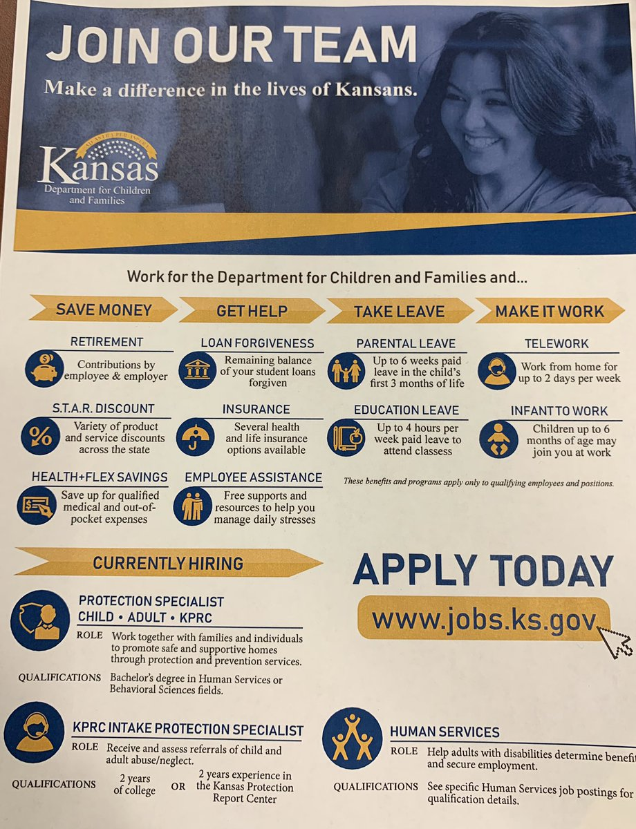 Join the @DCFKansas team and make a difference in the lives of Kansans. jobs.ks.gov