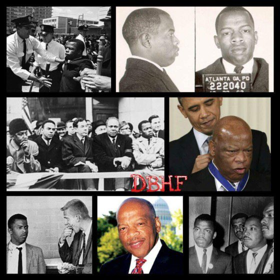 Happy Birthday 🎉 #JohnLewis. A great activist, leader, champion, and representative for justice and Civil rights. MLK is Smiling. #HappyBirthday