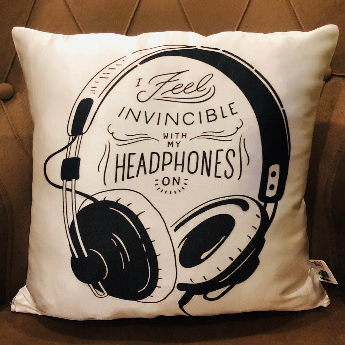 #I #feel #invincible #with #my #headphones #on # hobby #art  #special #pillow #😉