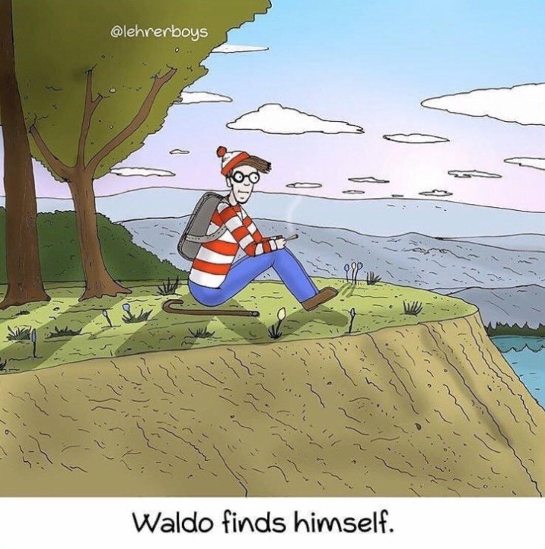 Waldo Finds Himself.   #dankmemes #memes #funnymemes #introspective #cannabiscommunity #deepthoughts #weedmemes #stonermemes #stonerhumor #weedhumorpic.twitter.com/SWJcecqKm2